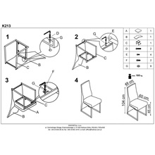 Krzesło nowoczesne z ekoskóry K213 cappuccino Halmar do jadalni, kuchni i salonu.