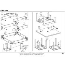 Stół rozkładany kwadratowy GRACJAN 80x80 olcha/biały Halmar do kuchni.