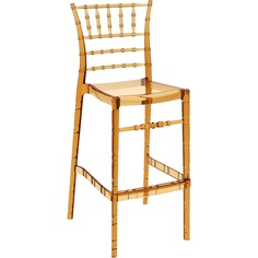 Krzesło CHIAVARI BAR 75 bursztynowe przezroczyste