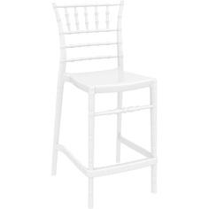 Krzesło CHIAVARI BAR 65 lśniące białe