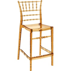 Krzesło CHIAVARI BAR 65 bursztynowe przezroczyste