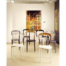 Krzesło MR BOBO ciemnoszare / przezroczyste
