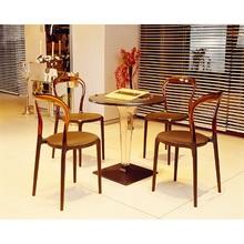 Krzesło MR BOBO białe / przezroczyste