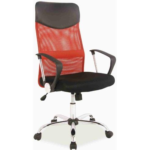 Fotel obrotowy Q-025 czarny/czerwony
