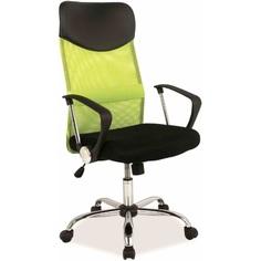 Fotel obrotowy Q-025 czarny/zielony