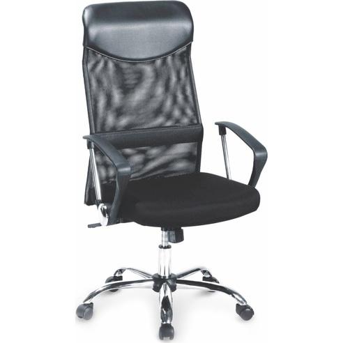 Fotel biurowy z siatki VIRE czarny Halmar do biurka.