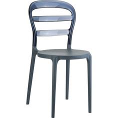 Krzesło MISS BIBI ciemnoszare / szare dymione przezroczyste