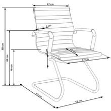 Fotel gabinetowy z ekoskóry PRESTIGE SKID kremowy Halmar do biurka.