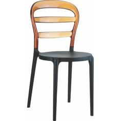 Krzesło MISS BIBI czarne / bursztynowe przezroczyste