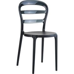 Krzesło MISS BIBI czarne / czarne przezroczyste