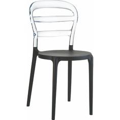 Krzesło MISS BIBI czarne / przezroczyste