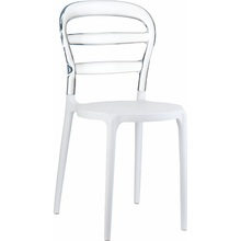 Krzesło MISS BIBI białe / przezroczyste