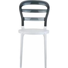 Krzesło MISS BIBI białe / czarne przezroczyste