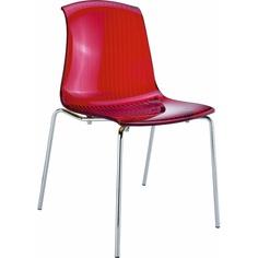 Krzesło ALLEGRA czerwone przezroczyste