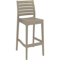 Krzesło ARES BAR 75 szarobrązowe
