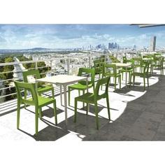 Krzesło LUCCA zielone tropikalne