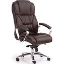 Fotel gabinetowy FOSTER ciemno brązowy Halmar do biurka.