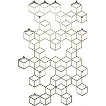Dekoracyjny Wieszak ścienny metalowy Stiga L złoty Polyhedra na ubrania.