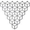 Dekoracyjny Wieszak ścienny metalowy Stiga M czarny Polyhedra na ubrania.