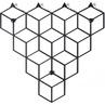 Dekoracyjny Wieszak ścienny metalowy Stiga S czarny Polyhedra na ubrania.