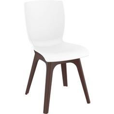 Krzesło MIO PP brązowe / białe