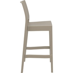 Krzesło MAYA BAR 75 szarobrązowe