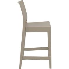 Krzesło MAYA BAR 65 szarobrązowe