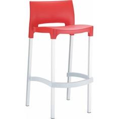 Krzesło barowe GIO czerwone