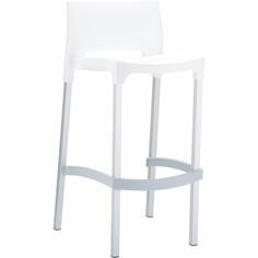 Krzesło barowe GIO białe