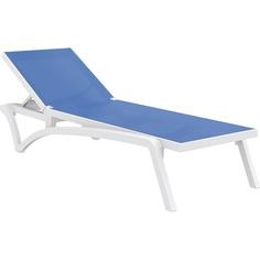 Leżak PACIFIC biały / niebieski