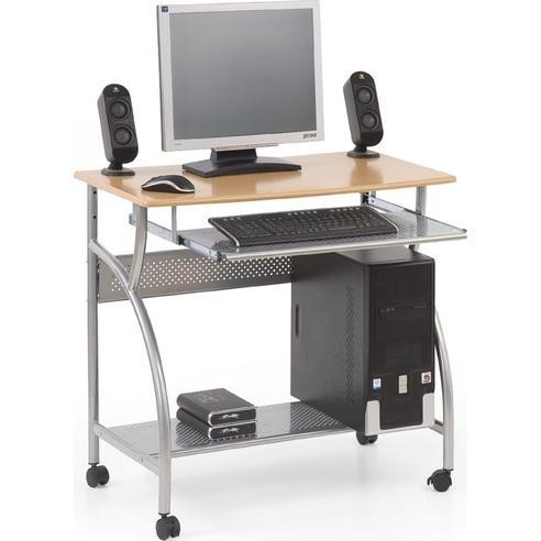 Stylowe Biurko z półką na klawiaturę i komputer B6 olcha Halmar