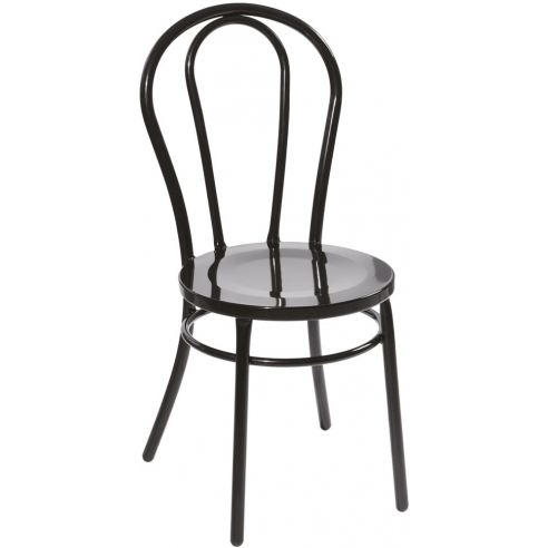 Krzesło metalowe Cafe czarne Moos Home