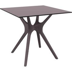 Stół IBIZA 80X80 brązowy