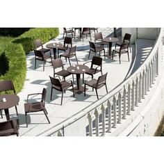 Krzesło CAPRI brązowe