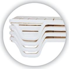 Leżak BAHAMA biały