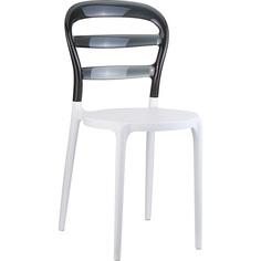 Krzesło MISS BIBI białe/czarne przezroczyste