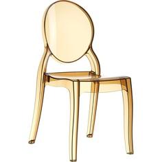 Krzesło ELIZABETH bursztynowe przezroczyste