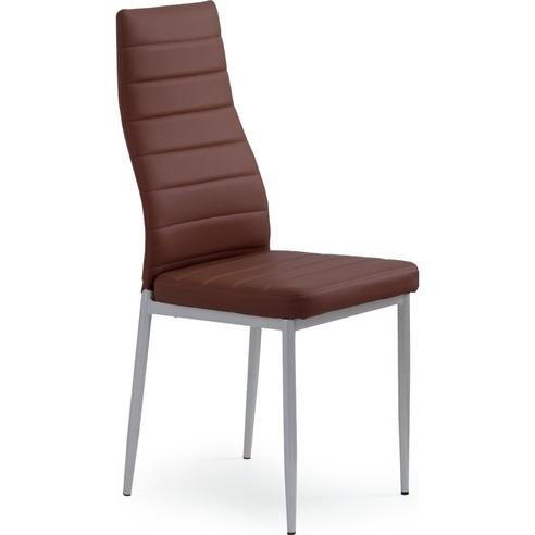 Krzesło z ekoskóry K70 ciemno brązowe Halmar do salonu, kuchni i jadalni.