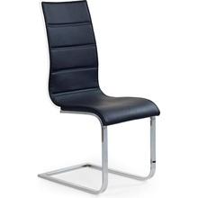 Krzesło z ekoskóry K104 czarny/biały Halmar do salonu, kuchni i jadalni.