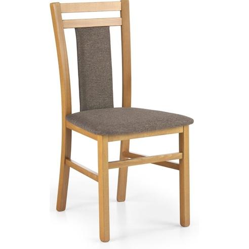 Klasyczne Krzesło drewniane tapicerowane HUBERT8 olcha Halmar do kuchni, salonu i jadalni.
