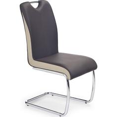 K184 krzesło ciemny brąz/champagne