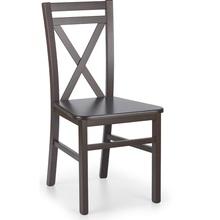 Klasyczne Krzesło drewniane DARIUSZ II ciemny orzech Halmar do kuchni, salonu i jadalni.