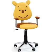 Fotel młodzieżowy do biurka KUBUŚ żółty/brązowy Halmar.