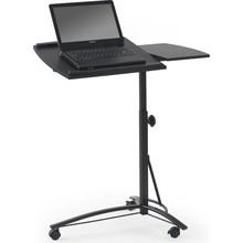 Stylowe Biurko/stolik na laptopa na kółkach B14 czarny Halmar