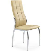 Krzesło pikowane z ekoskóry K209 beżowe Halmar do salonu, kuchni i jadalni.