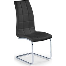 Krzesło pikowane z ekoskóry K147 czarne Halmar do salonu, kuchni i jadalni.