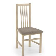Klasyczne Krzesło drewniane tapicerowane PAWEŁ dąb sonoma Halmar do kuchni, salonu i jadalni.