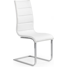 K104 krzesło biały/biały ekoskóra