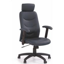 Fotel gabinetowy z zagłówkiem STILO czarny Halmar do biurka.