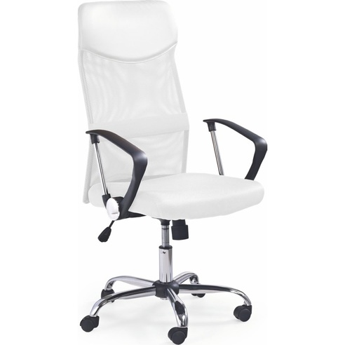 Fotel biurowy z siatki VIRE biały Halmar do biurka.